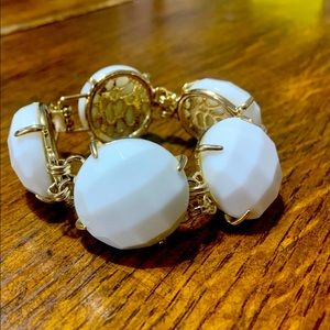 Kendra Scott Cassie Bracelet in White and Gold
